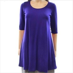 EILEEN FISHER SzS 1/2 Sleeve Blue Violet Tunic